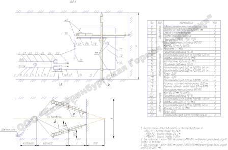 Схема установки ЛПБУ в забое